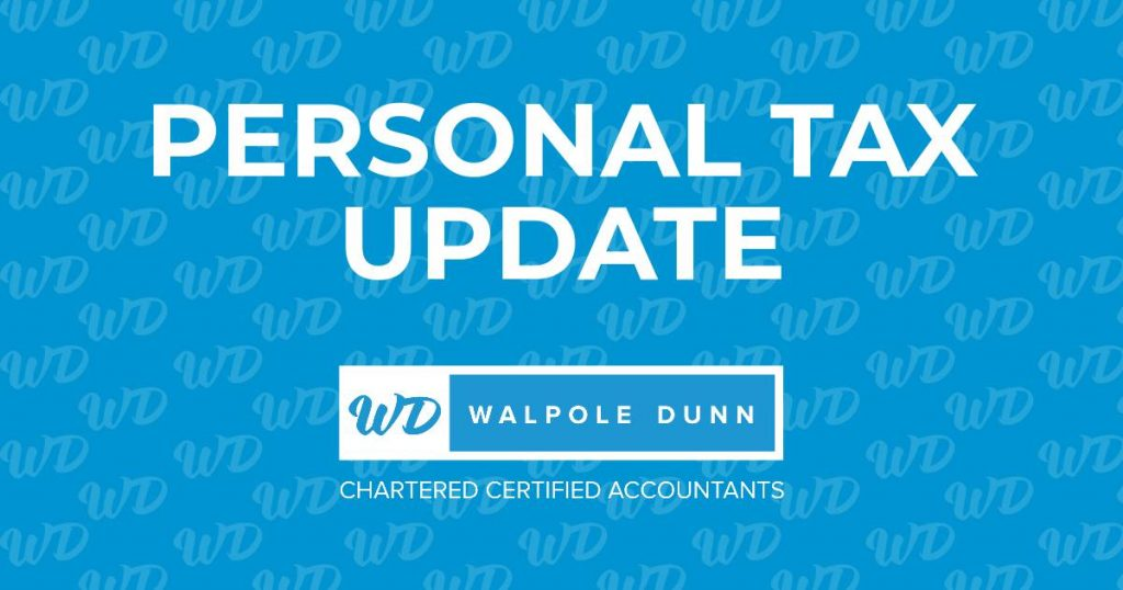 Personal tax update on late penalties for self assessment taxpayers from Walpole Dunn - Taunton Somerset