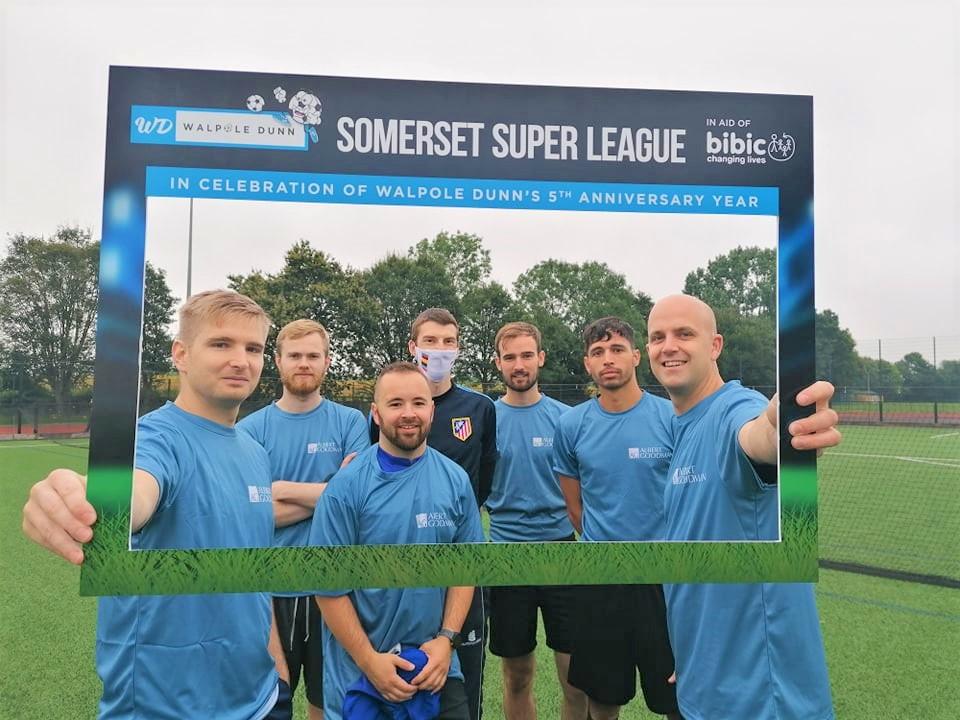 Albert Goodman Team Photo at Walpole Dunn Somerset Super League in Taunton